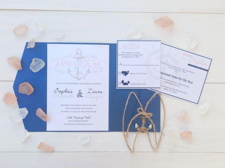 jsd nautical blue anchor wedding invitation