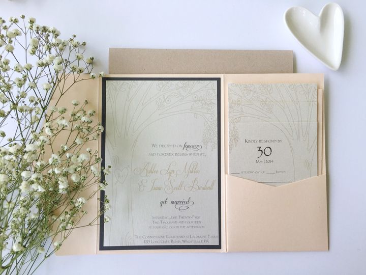 jsd rustic blush wedding invitation