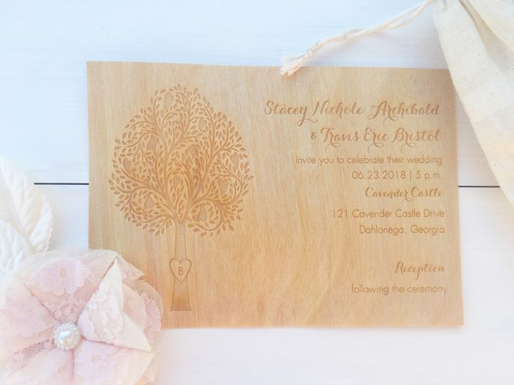 Tmx 1493299073610 Jsd Carlson Craft Engraved Wood Veneer Rustic Wedd Hanover wedding invitation