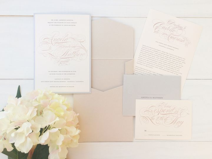 Tmx 1493299148406 Jsd Flourish Elegant Wedding Invitation Hanover wedding invitation