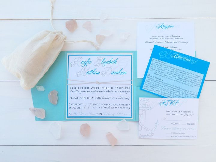 Tmx 1493299318473 Jsd Sea Green Blue Beach Wedding Invitation Hanover wedding invitation