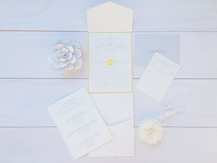 Tmx 1493299438781 Jsd Silver White Modern Elegant Wedding Invitation Hanover wedding invitation