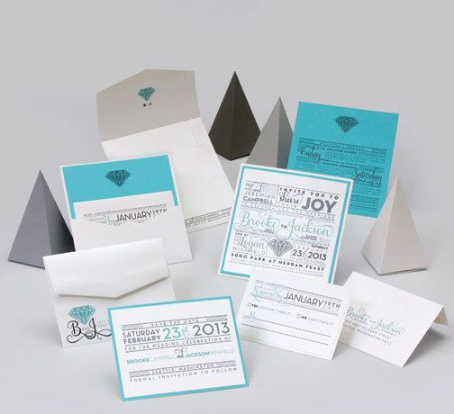Tmx 1493299531936 Jsd E Aqua Silver Modern Block Wedding Invitation Hanover wedding invitation