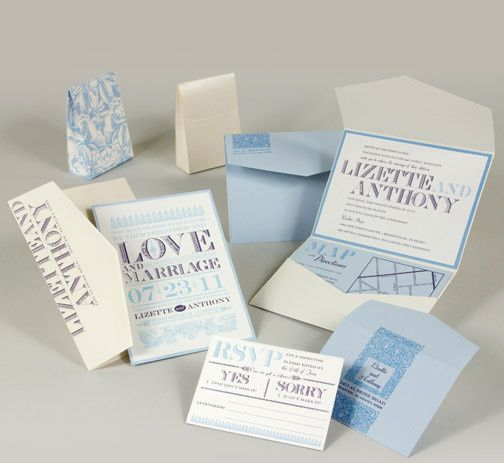 Tmx 1493299538332 Jsd E Baby Blue White Modern Block Wedding Invitat Hanover wedding invitation