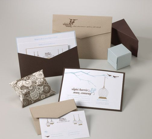 Tmx 1493299585458 Jsd E Brown Baby Blue Bird Modern Wedding Invitati Hanover wedding invitation