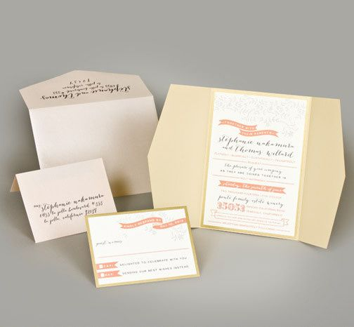Tmx 1493299642653 Jsd E Coral And Gold Garden Script Modern Romantic Hanover wedding invitation