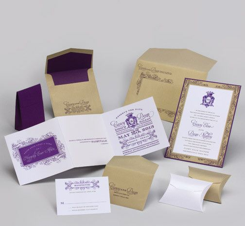 Tmx 1493299738412 Jsd E Purple Gold Vintage Wedding Invitation Hanover wedding invitation