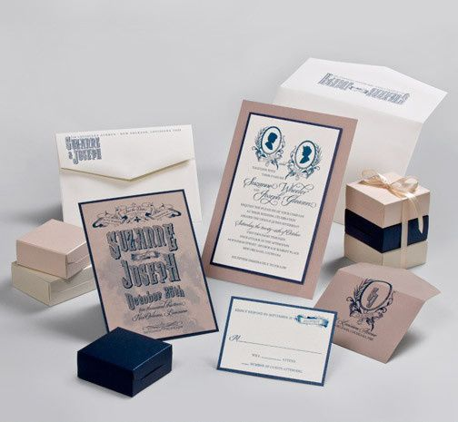 Tmx 1493299801193 Jsd E Vintage Navy Kraft Wedding Invitation Hanover wedding invitation