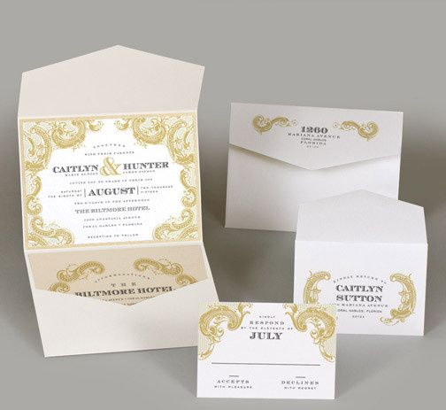 Tmx 1493299806365 Jsd E White Gold Elegant Wedding Invitation Hanover wedding invitation