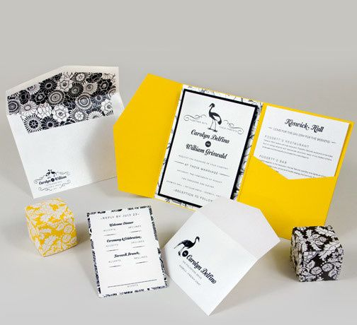 Tmx 1493299813399 Jsd E Yellow Black Modern Floral Wedding Invitatio Hanover wedding invitation