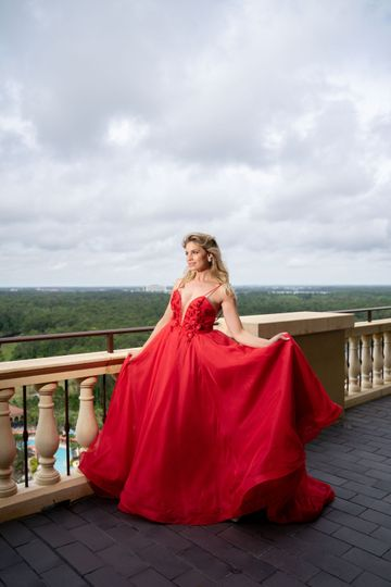 A custom made gown