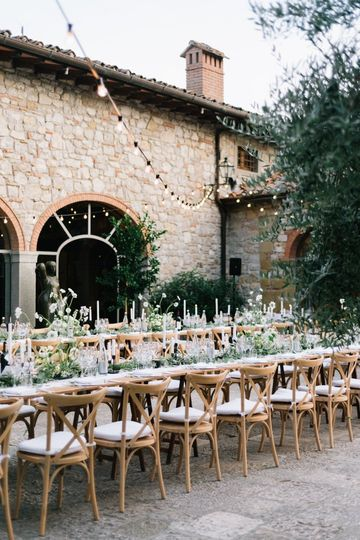 Romantic Tuscany reception