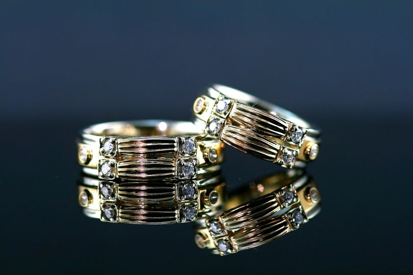 jim and phil wedding bands using moms bracelet and diamonds 51 1019499