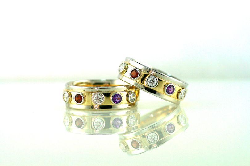 Diamonds, birthstone gemstones