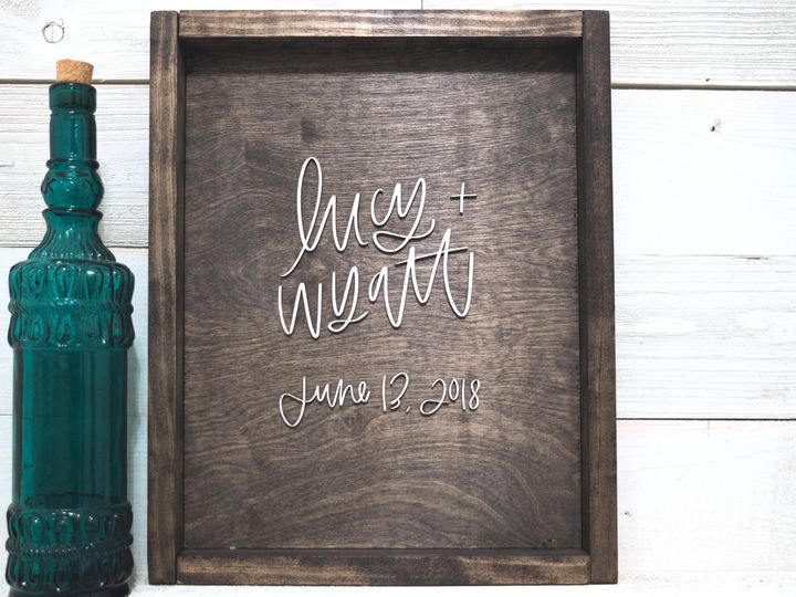 Tmx Wood Sign Lucy Wyatt 1 Of 2 51 431599 Riverton, New Jersey wedding invitation