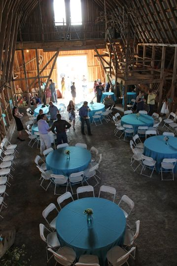 The barn provides ample room for your ceremony or reception.