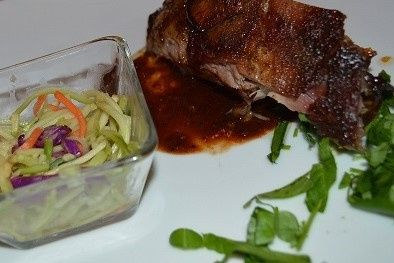 Smoked Caribbean Style Ribs with Ginger Slaw