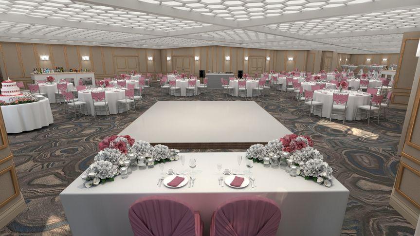 Dancefloor with bridal table