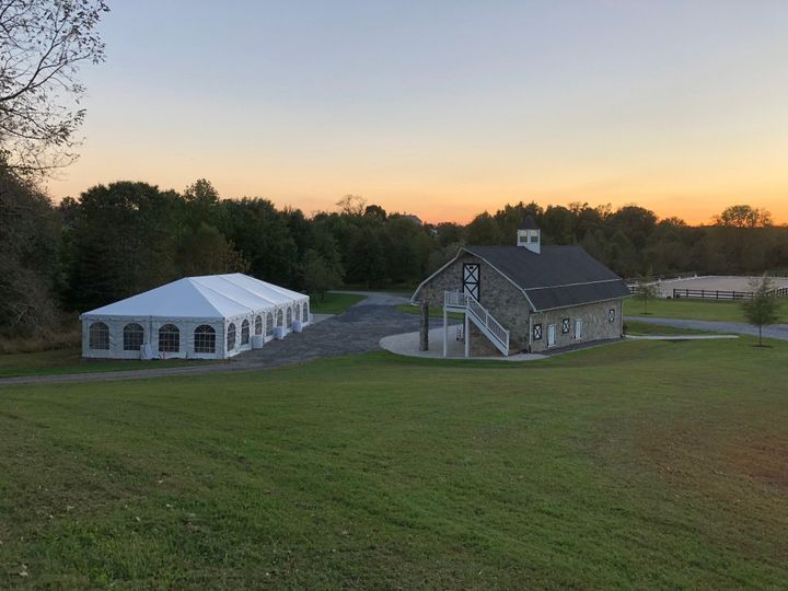 Tent pad and barn
