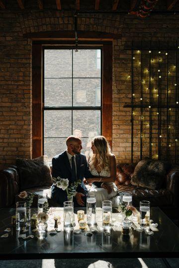 Industrial but romantic atmosphere