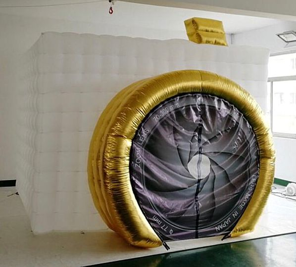 Custom inflatable camera booth