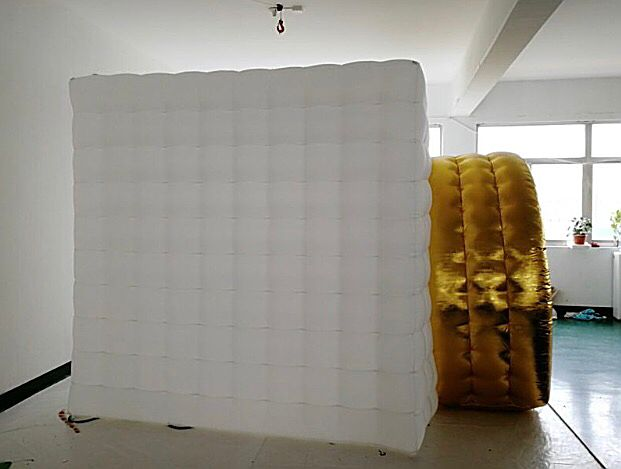 Inflatable camera booth side