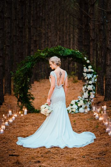 Ceremony among the pines