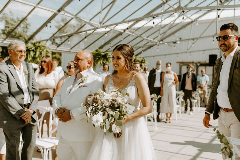 A Bride + Her Father