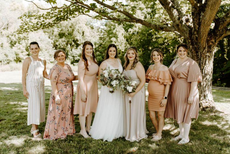 A Bride + Her Bride Tribe!