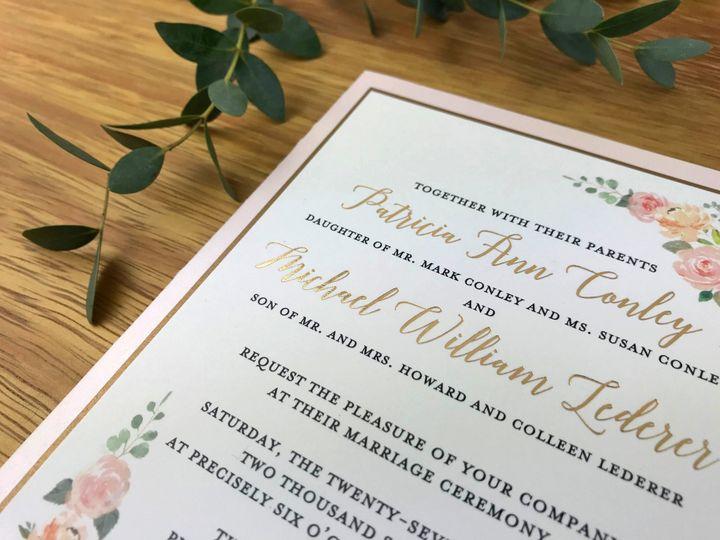 Foil Stamped Main Invite