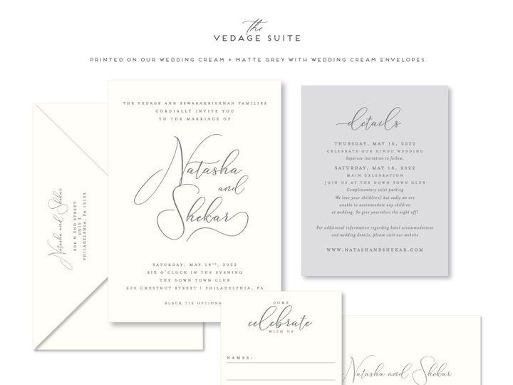 Tmx Vedage 51 678599 161513588494680 Philadelphia, PA wedding invitation