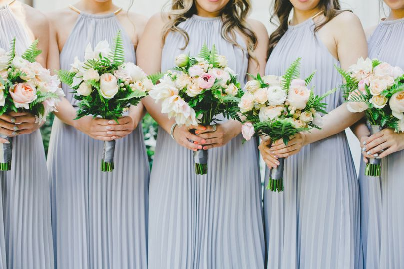 Matching bouquets