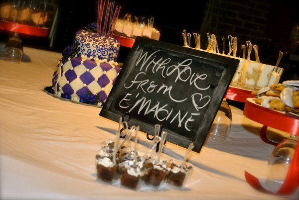 Wedding cake and cupcake