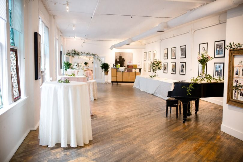 Ballroom and piano