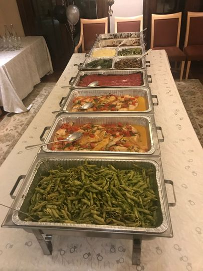 Italian food buffet