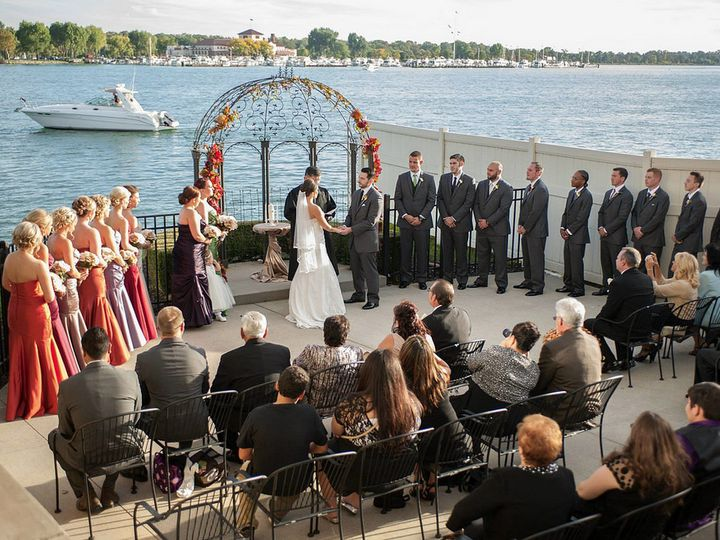 Tmx Ceremony On Side Patio 51 2699 Detroit, MI wedding venue