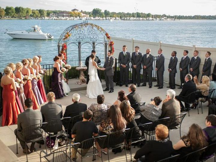 Tmx Side Patio Ceremony 51 2699 Detroit, MI wedding venue