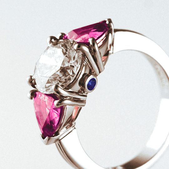 The ultimate three stone ring