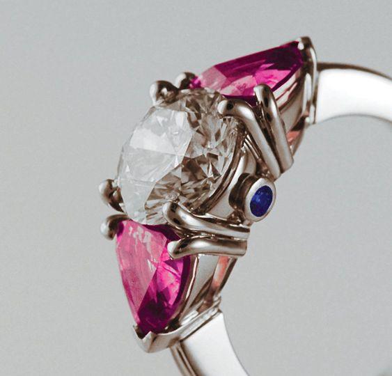 Diamond Sapphire three stone