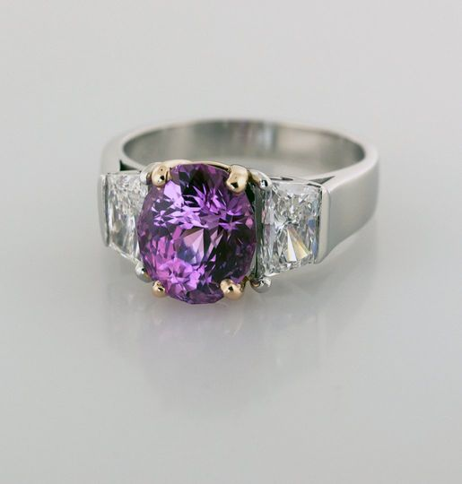 Sapphire & Diamond 3 Stone