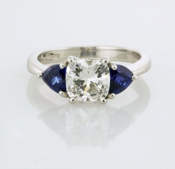 Diamond & Sapphire Three Stone