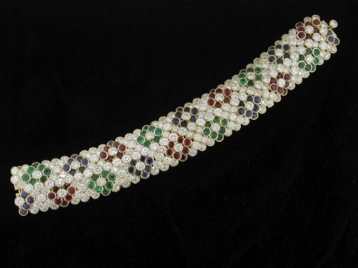 Tmx 1478983699844 Diamond Sapphire Ruby And Emerald Bracelet Camden wedding jewelry