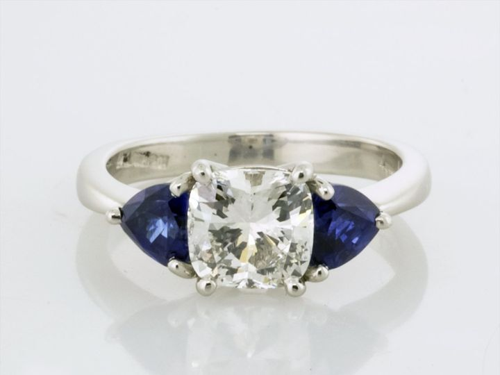 Tmx Three Stone Diamond Sapphire Front View 51 482699 160469915349718 Camden wedding jewelry