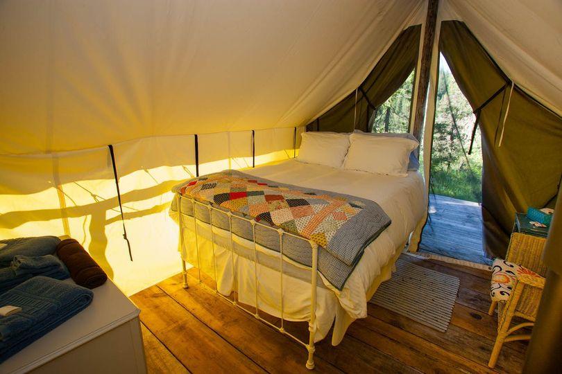 Wall Tent Interior
