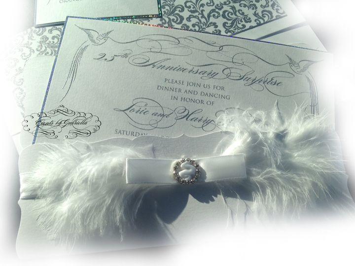 Tmx 1431191036998 Feather Invite Garden City, NY wedding invitation