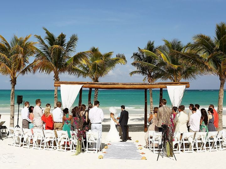 Tmx 1490925657499 Riviera Cancun Beach Wedding Secrets Maromapa0059 Norfolk wedding travel