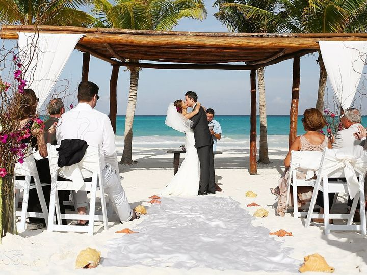 Tmx 1490925663906 Riviera Cancun Beach Wedding Secrets Maromapa0085 Norfolk wedding travel