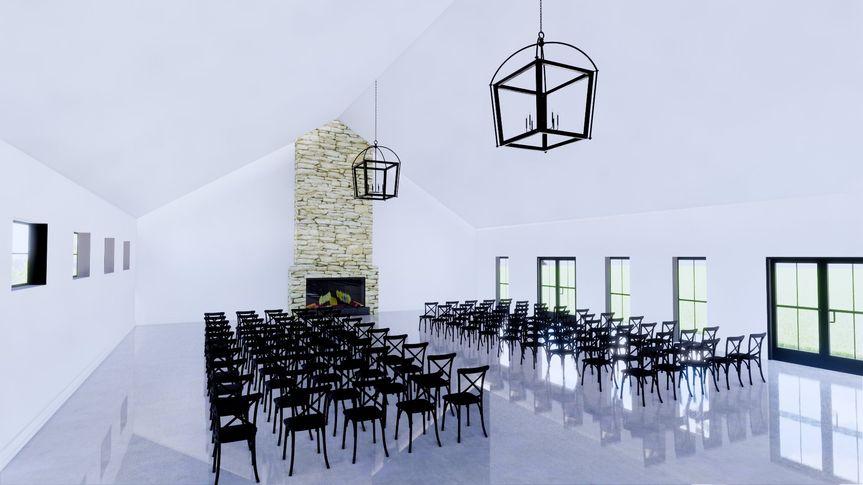 Fireside room for ceremonies