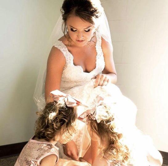 Bride with a kid