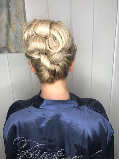 Updo with twists